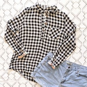 Matilda Jane Buffalo plaid flannel Button down